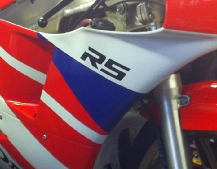 John Mould's 1990 RS250R NF5 Promotional Colours